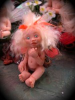 baby fairy doll from push mold
