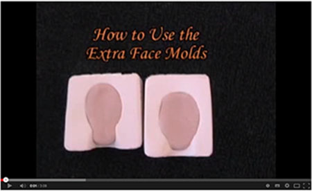 how to use the extra doll face molds
