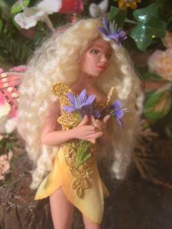 fairy maiden in yellow dress