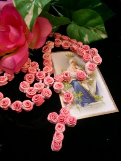 pink rose rosary