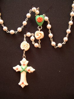 rosary with glass beads