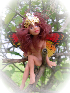 Fairy doll in tree