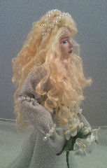 gown doll's hair