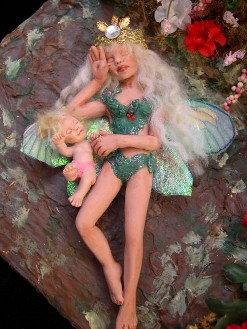 fairy mom and tiny baby