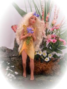 fairy maiden in garden patch
