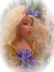 fairy maiden doll close up