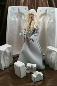 gown doll and molds