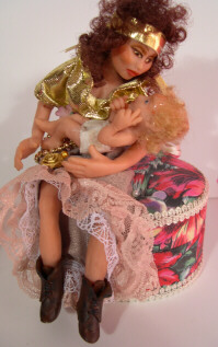 Gypsy Doll with Baby