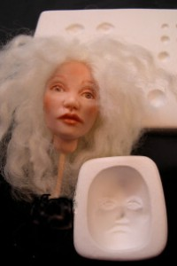 doll eye practice face mold
