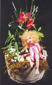 girl fairy on plant